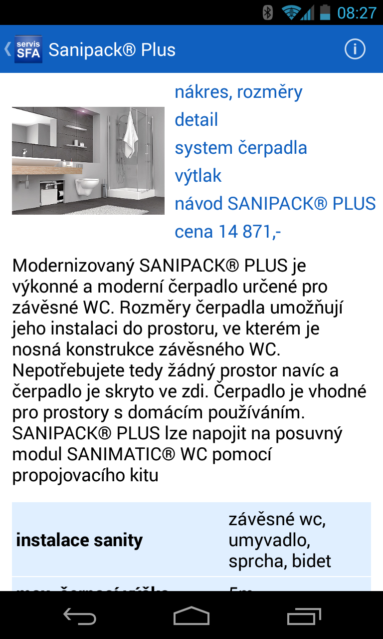 Servis SFA SANIBROY®